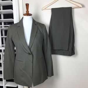 Pendleton pant suit green virgin wool Sz 4